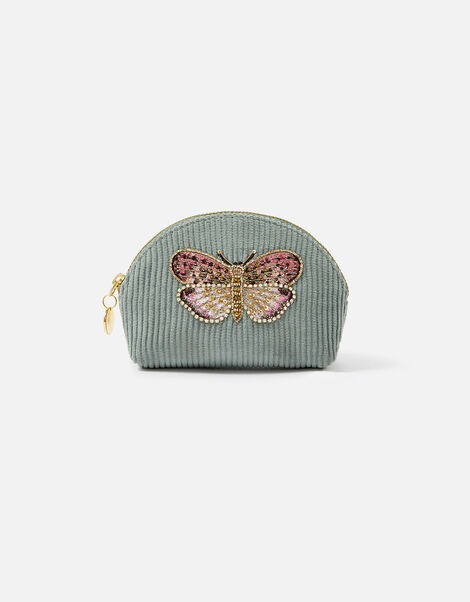 Embellished Butterfly Coin Purse Green, Green (GREEN), large