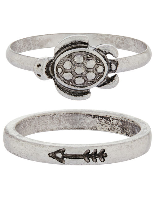 Tilly Turtle Ring Set, Silver (SILVER), large