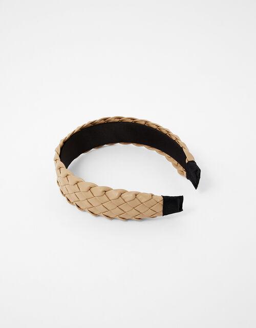 Woven PU Wide Headband, , large