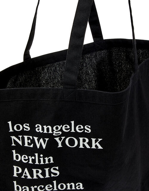 Large City Shopper Bag in Organic Cotton, , large