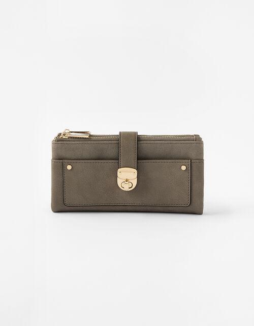 Freya Push-Lock Wallet, Grey (GREY), large