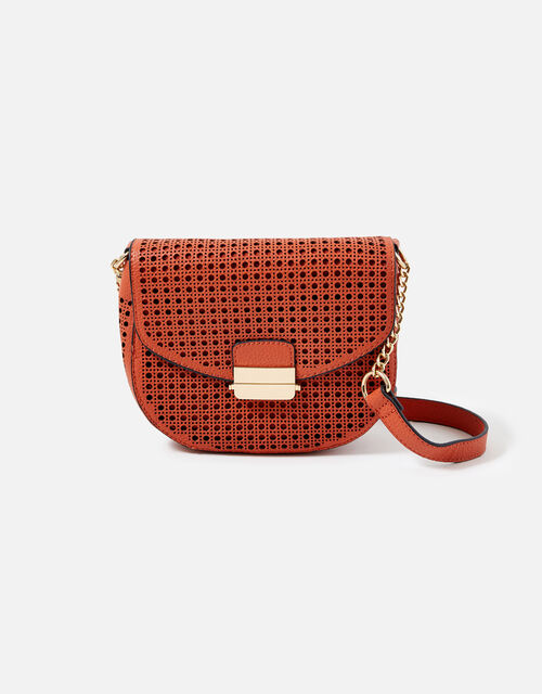 Punch-Out Cross-Body Bag, Orange (ORANGE), large