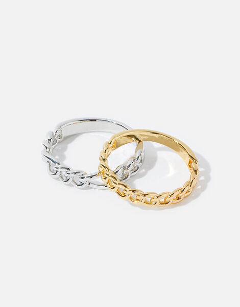 Mix Plating Chain Rings Gold, Gold (GOLD), large