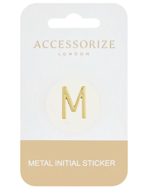 Metallic Initial Sticker - M, , large