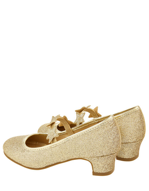 Glitter Star Flamenco Shoes, Gold (GOLD), large