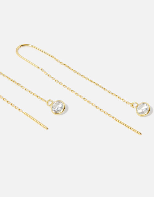 Gold-Plated Sterling Silver Threader Earrings, , large