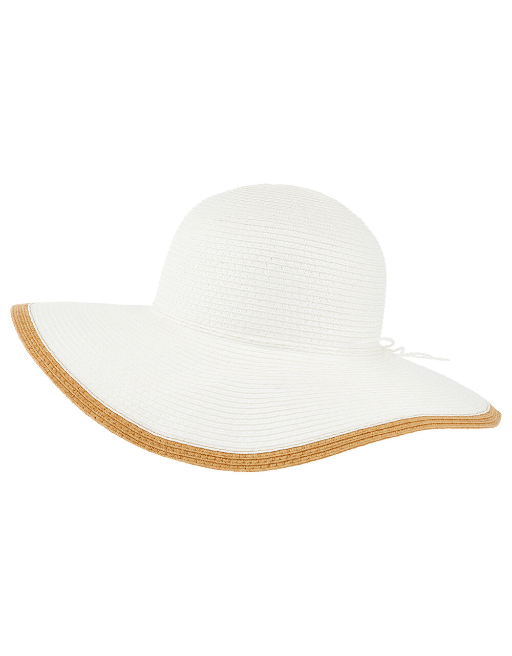 Contrast Edge Floppy Hat, White (WHITE), large