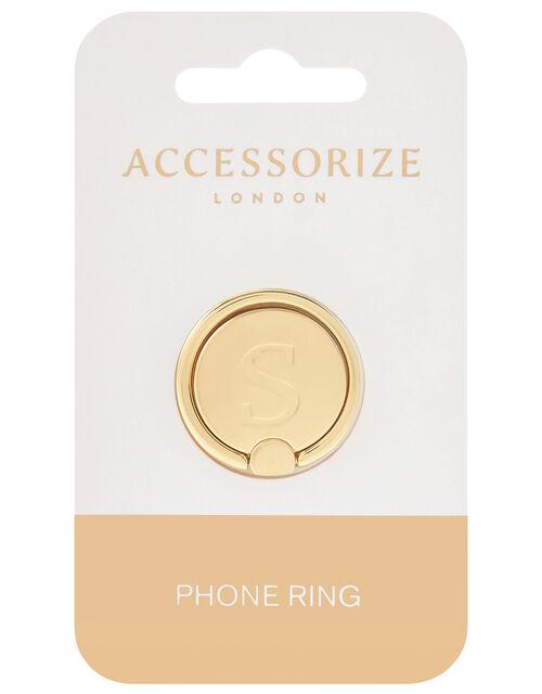 Metallic Initial Phone Ring - S, , large