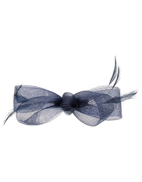 Ella Bow Hair Clip Blue, Blue (NAVY), large