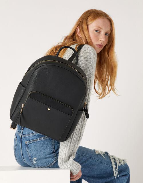 Nikki Dome Backpack, Black (BLACK), large