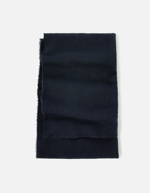 Wells Blanket Scarf Navy, , large