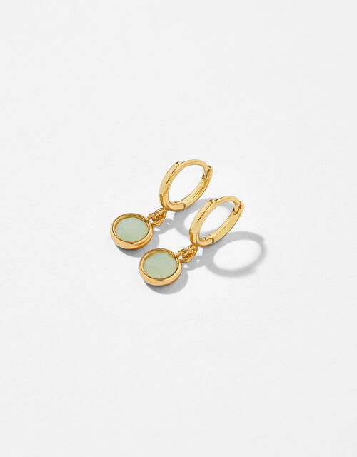 Gold-Plated Birthstone Earrings - March, , large