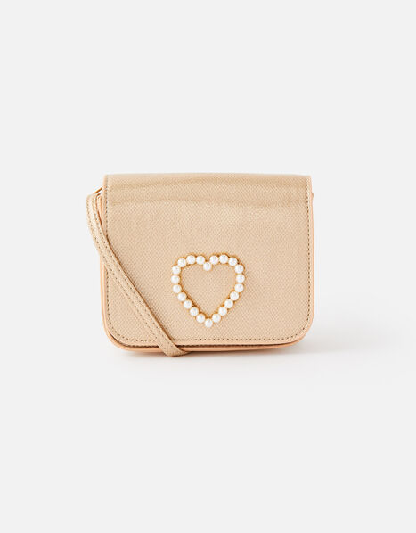 Pearly Heart Cross-Body Bag, , large
