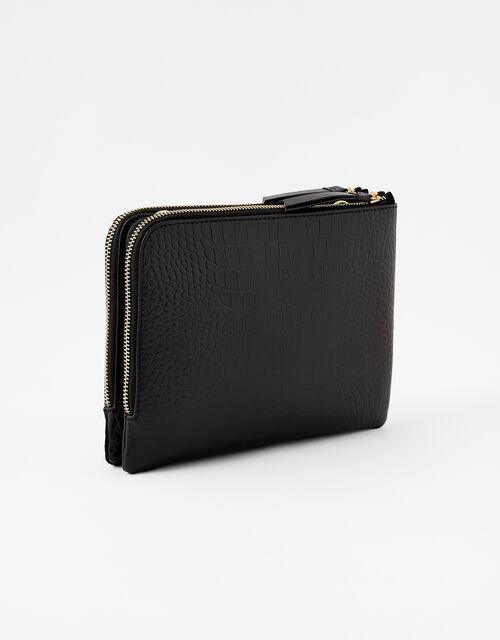 Croc Cross-Body Bag, Black (BLACK), large