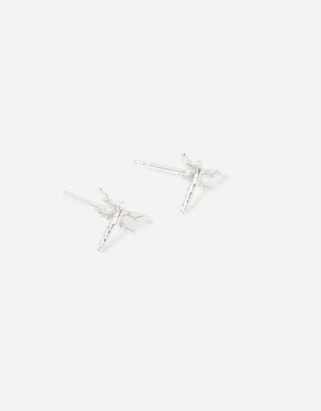 Sterling Silver Dragonfly Studs, , large
