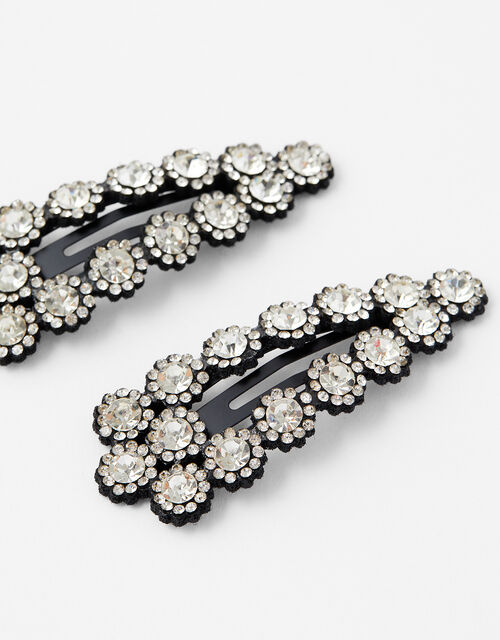 Halo Crystal Hair Clips, , large