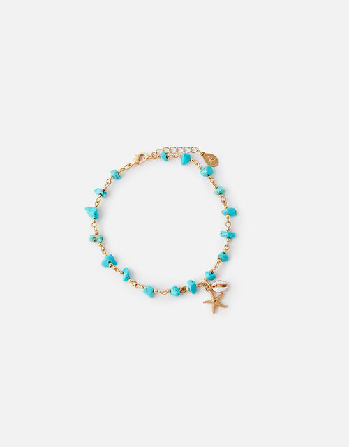 Shell Charm Stone Anklet , , large