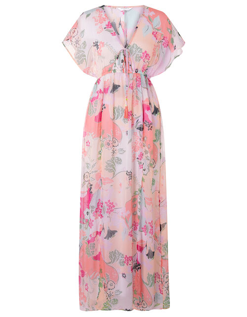 Printed Chiffon Maxi Dress, Multi (PASTEL-MULTI), large