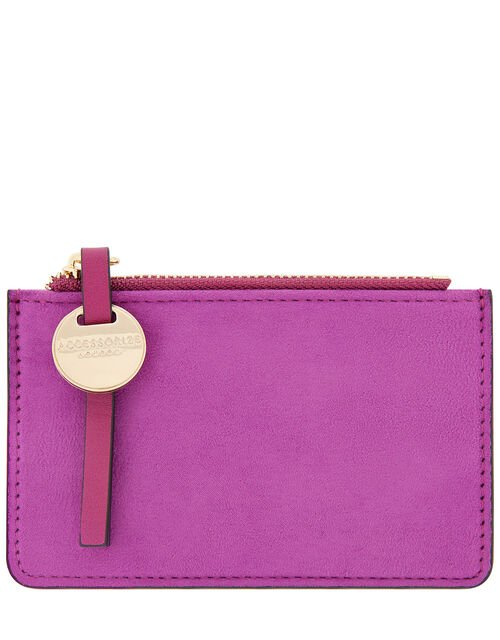 Shoreditch Card Holder with Charm, Pink (MAGENTA), large