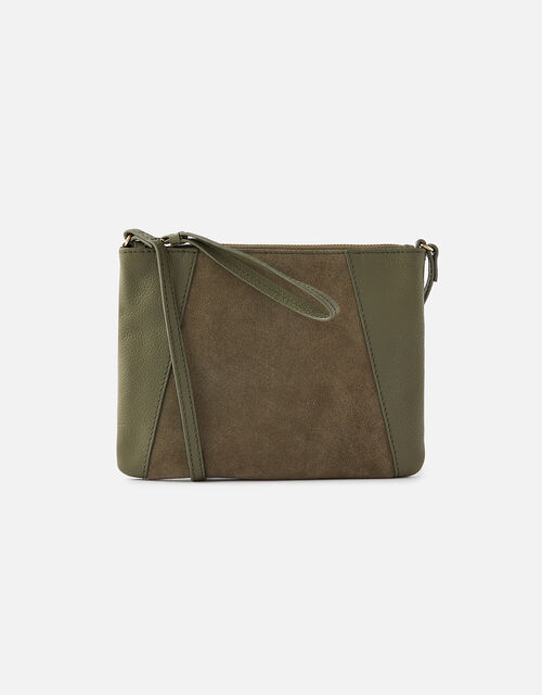 Sophie Leather Cross Body, Green (KHAKI), large