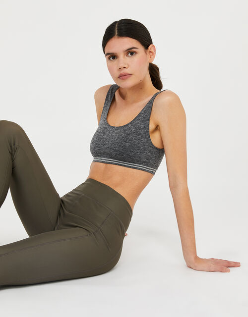 Seamless Sporty Crop Top, Grey (GREY), large