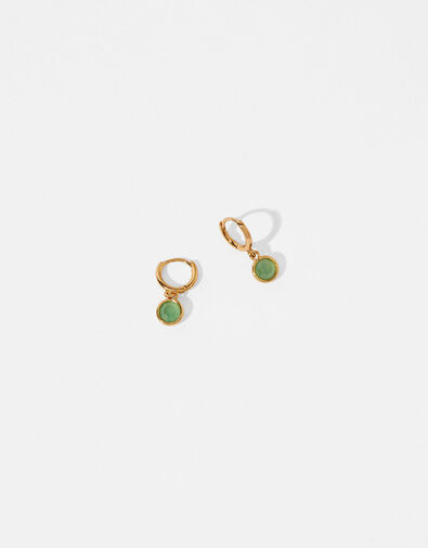 Gold-Plated Birthstone Earrings - August, , large