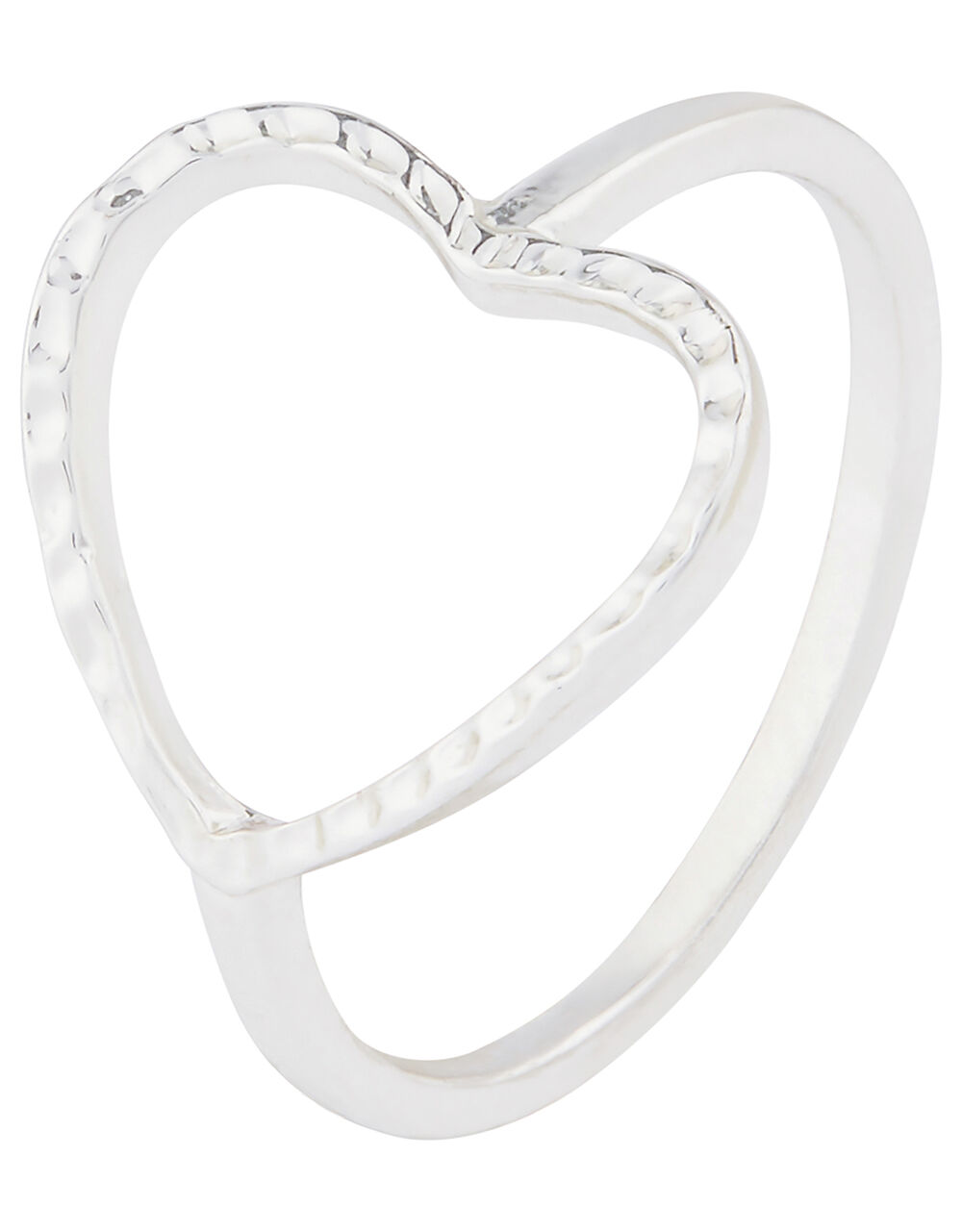 Open Heart Ring, Silver (SILVER), large
