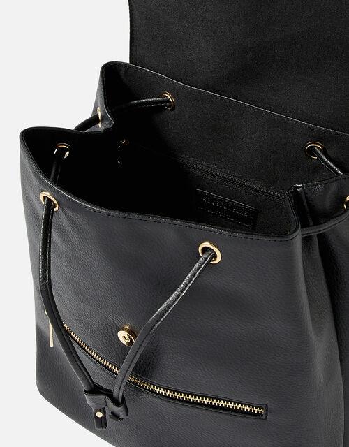 Kylie Drawstring Backpack, Black (BLACK), large