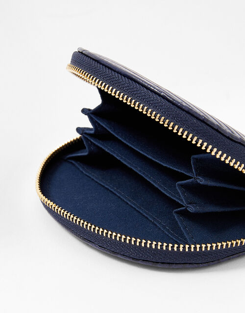 Semi Circle Coin Purse, Blue (NAVY), large