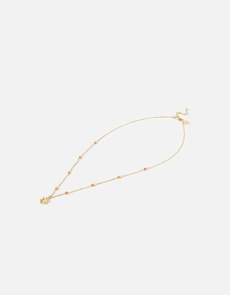 Beaded Sacral Chakra Pendant Necklace, , large