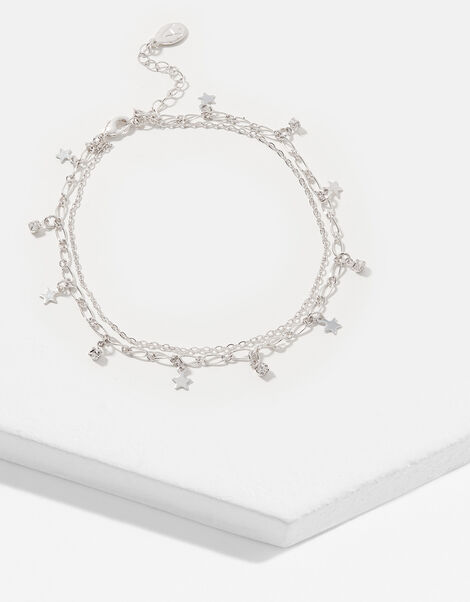 Star and Crystal Anklet, , large
