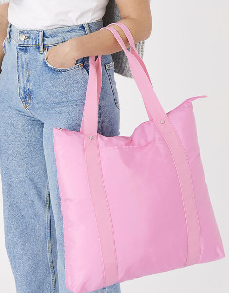 Packable Shopper Bag Pink, Pink (PINK), large