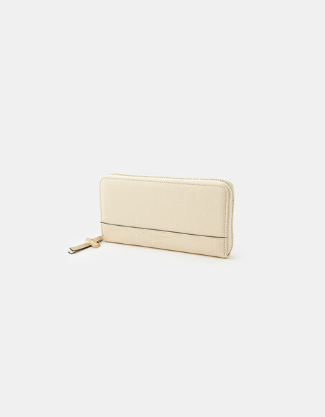 Large Zip-Around Wallet Cream, Cream (CREAM), large