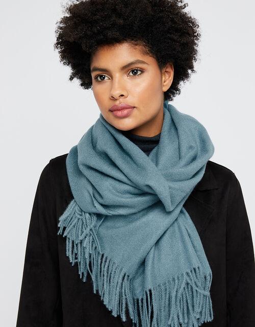 Holly Super-Soft Blanket Scarf, Blue (BLUE), large