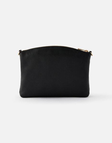Darcey Leather Double Zip Cross-Body Bag Black, Black (BLACK), large