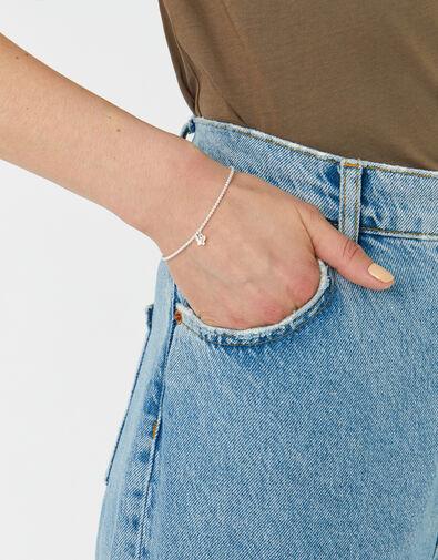 Sterling Silver Butterfly Stretch Bracelet , , large