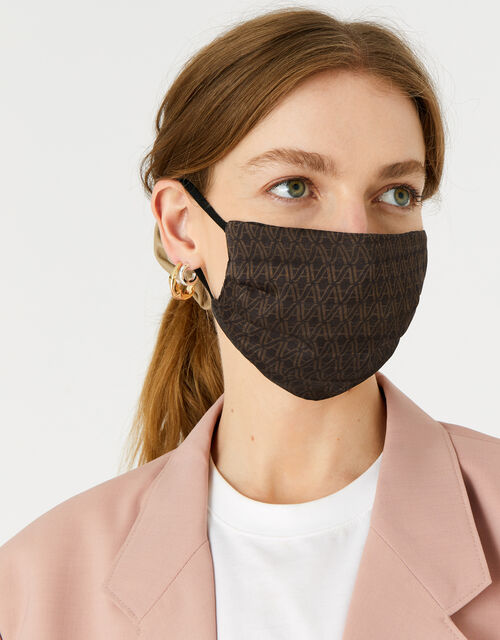 Monogram Face Covering in Pure Silk, , large