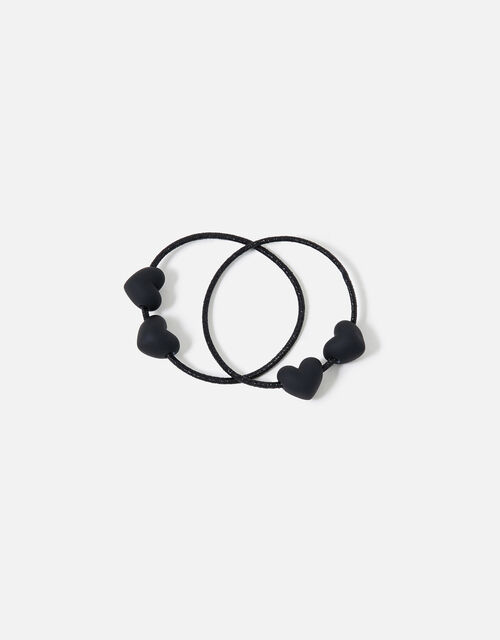 Heart Bead Hairbands Twin Pack , , large