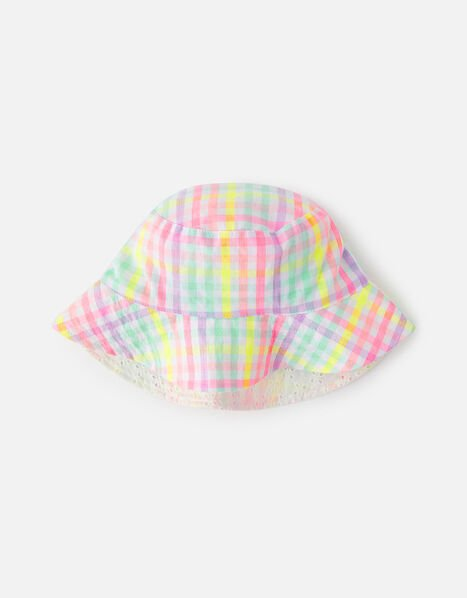 Check Reversible Hat  Multi, Multi (BRIGHTS-MULTI), large