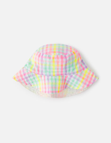 Check Reversible Hat  Multi, Multi (BRIGHTS-MULTI), large