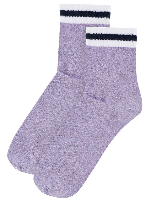 Sparkle Sporty Cropped Socks, , large