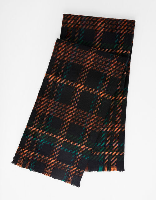 Zelda Check Blanket Scarf, , large