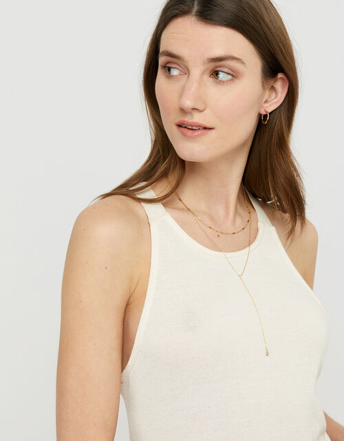 Layered Y-Chain Necklace, , large