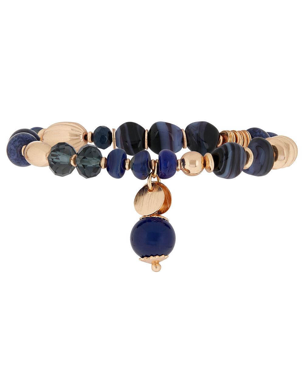 Stone Bead Stretch Bracelet, , large