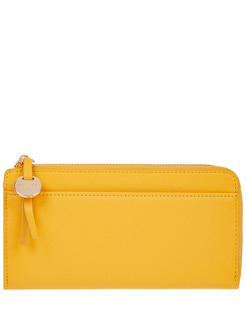 Large Reptile Wallet, Yellow (YELLOW), large