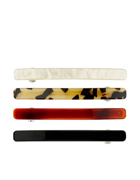 Basic Barette Hair Clip Set, , large