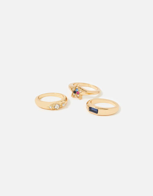 New Decadence Starry Signet Rings, Multi (BRIGHTS-MULTI), large