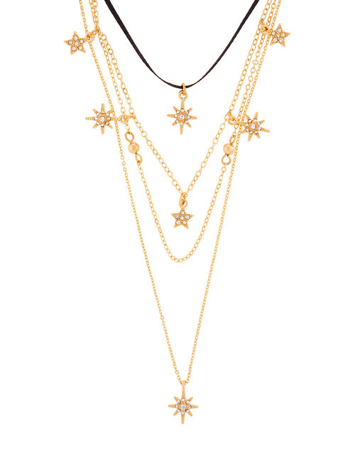 Sparkle Star Layered Necklace, , large