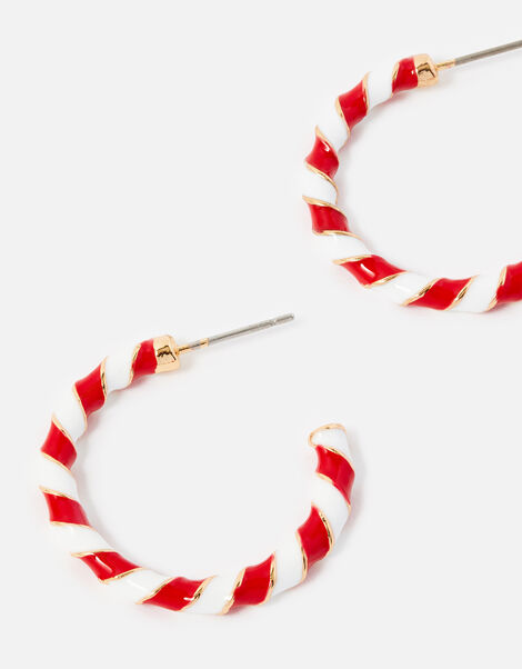 Candy Cane Hoop Earrings, , large