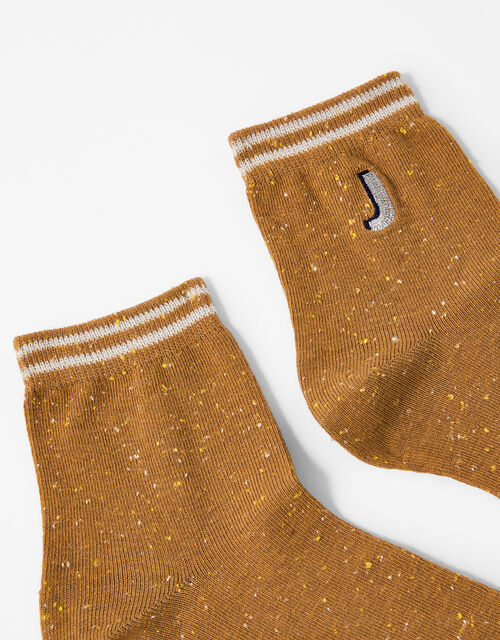 Initial Ankle Socks - J, , large